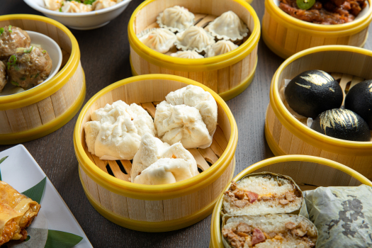 Barbecuepork buns and other dishes from Yue Club